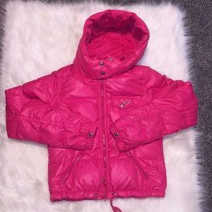 Hot Pink Hollister Puffy Jacket